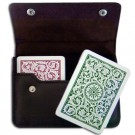 Copag 1546 GB Poker Size Regular Index Leather Case