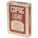 Copag Plastic Coated Casino Series Red Poker Size Jumbo Index Single Deck