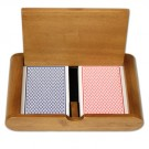 Copag Dual RB Poker Size Dual Index Wooden Box