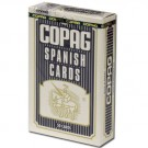 Copag Plastic Coated Spanish Series Blue Poker Size Spanish Index Single Deck