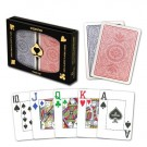 Copag 4 Color Double-Deck Set, Red/Blue Poker Size Jumbo Index