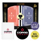 Copag Pinochle RB Poker Size Regular Index Double Deck Dealer Kit