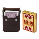Copag Texas Hold'Em Burgundy, Poker-Jumbo Single Deck w/Leather Case