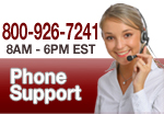 Our customer service is eager to assist you. Call us at (800) 926-7241.