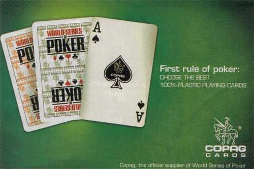 WSOP and Copag Cards