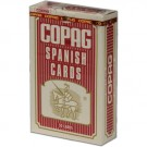 Copag Plastic Coated Spanish Series Red Poker Size Spanish Index Single Deck